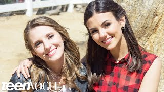 Victoria Justice and Her Bestie Cuddle with Adorable Farm Animals