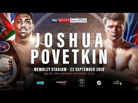 Joshua vs Povetkin plus undercard public workout