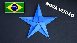 Origami: Estrela de 5 pontas - Nova versão melhorada e com voz