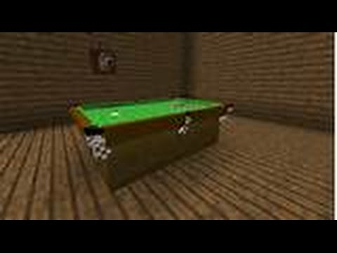 How To Build A Pool Table In Minecraft   YouTube