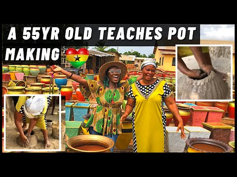 AFRICAN POTTERY MAKING - VUME VOLTA GHANA | How to make clay pot in Ghana