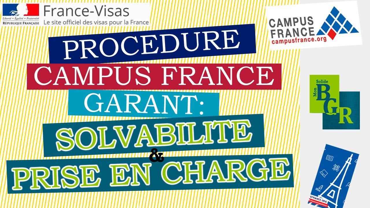 Download CAMPUS FRANCE : Solvabilité du Garant et Prise en charge