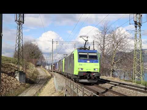 Swiss Freight & Passenger trains in & around Spiez - January 2018