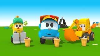 Leo Junior und die Eismaschine. Cartoon für Kinder