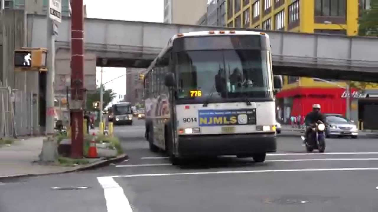 Nj Transit Mci D4500 Bus 9014 On Route 190 Entering The