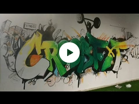 Crossfit wall painting for gym