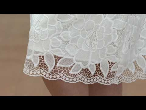 Isaac Mizrahi Live! Floral Lace Knife Pleat Full Skirt on QVC