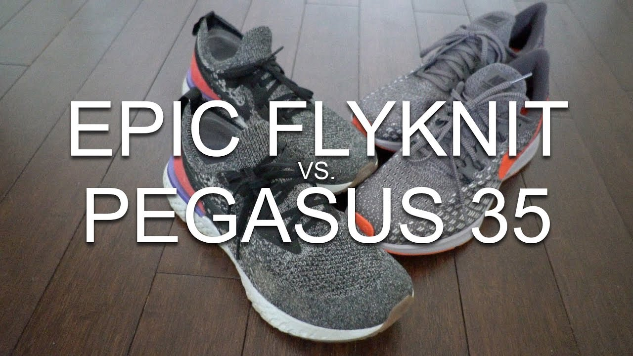 f2f1448099b3a NIKE ZOOM PEGASUS 35 vs. NIKE EPIC REACT FLYKNIT - YouTube