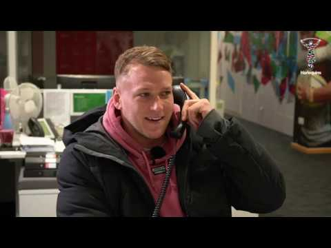 What happened when Alex Dombrandt made a surprise phone call to a Harlequins fan?