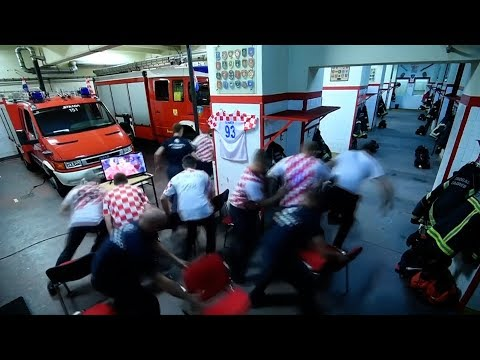 Duty calls as Croatian firefighters miss World Cup penalty win