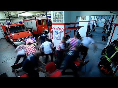 Duty Calls As Croatian Firefighters Miss World Cup Penalty Win