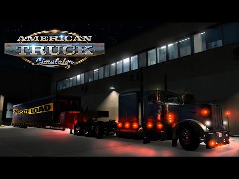 American Truck Simulator - Oversize Load - Peterbilt 389 Custom - Construction site office modules