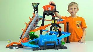 АВТОМИЙКА Хот Вілс з Крокодилом та водонапірною баштою - Hot Wheels ULTIMATE GATOR CAR WASH for Kids