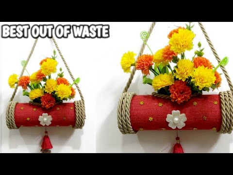 DIY Room Decor From Waste Material #wastematerial craft idea #Bestoutofwaste easy Pringle can craft