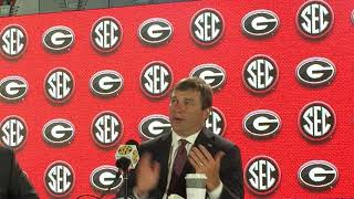 UGA coach Kirby Smart talks at 2018 SEC Media Days