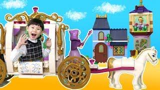 레고 디즈니 프린세스 41146 신데렐라의 마법같은 밤과 41065 라푼젤 최고의 날  블럭 장난감 놀이 LimeTube & Toy 라임튜브