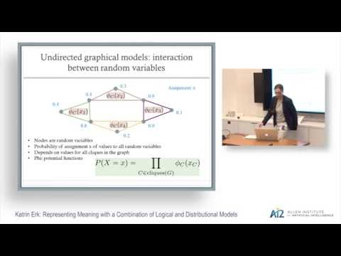 Katrin Erk: Representing Meaning with a Combination of Logical and Distributional Models