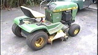 John Deere 116 Tractor Start UP