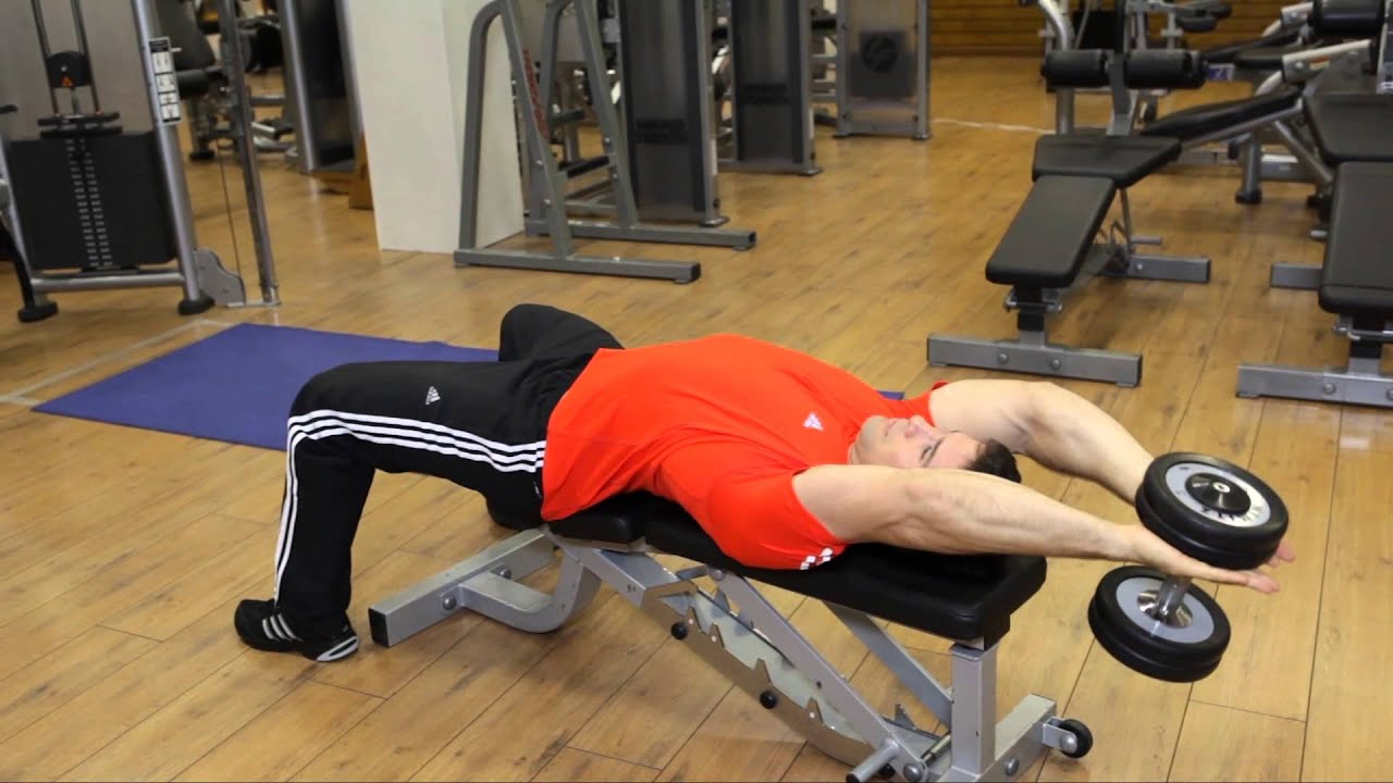 Pullover In Gym Dumbbell Pullover Chest Exercise