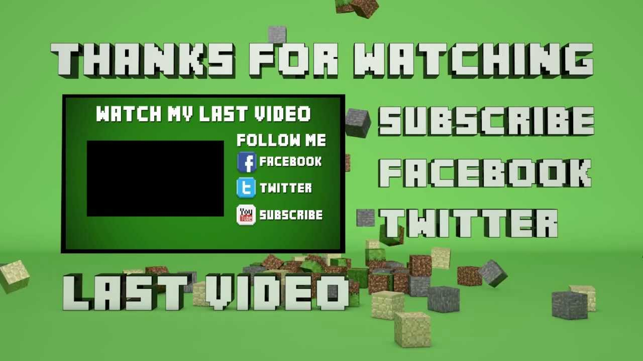 Template 29 minecraft outro falling blocks cinema 4d for Minecraft outro template movie maker