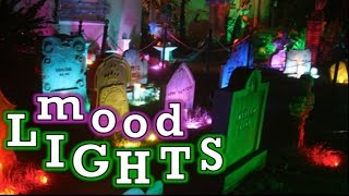 Halloween Yard Lighting | Lighting Effects Ideas |  LED Lights For Holiday Decorations