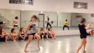 Adv. Jumps, leaps, and turns combo @8 count dance studio- choreography by:April Templeton Brenneman