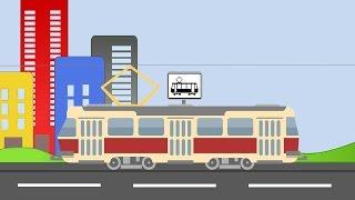 Мультик про транспорт. Автобус. Трамвай. Троллейбус