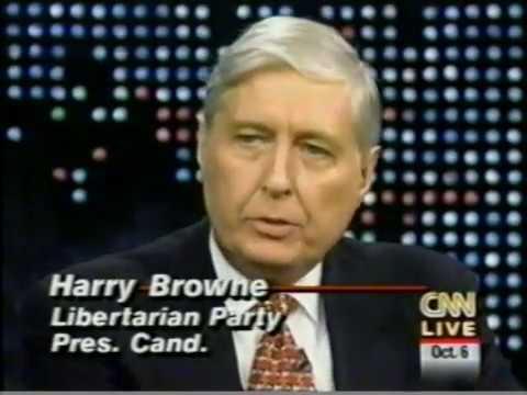 1996 10 06 Browne, Hagelin, Phillips on Larry King 1st debate