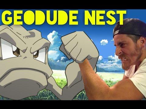Geodude Nest - Pokémon Go - Lets Play - Golem Evolution