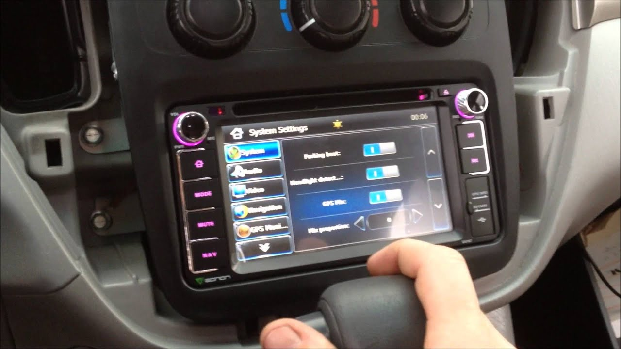 Eonon D5617 2007 Toyota Highlander Install Youtube
