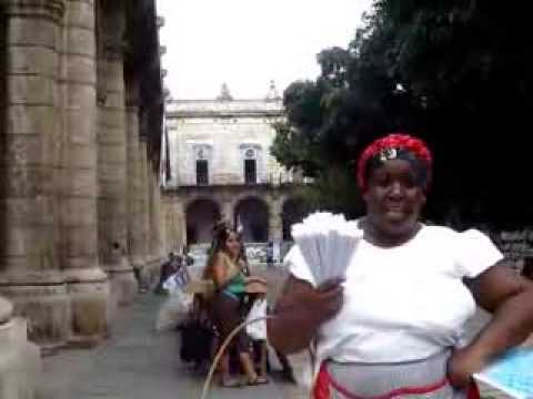 "Elisa, the ""Peanut Vendor"" at the Palace of the General Captains, Old Havana."