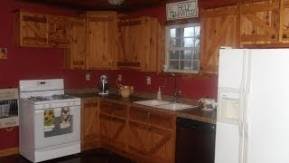 Custom Built Knotty Pine Cabinets