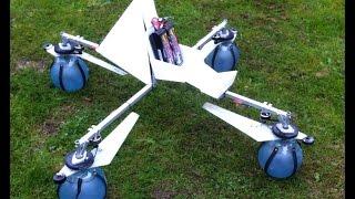 Single blade propeller multirotor test 2