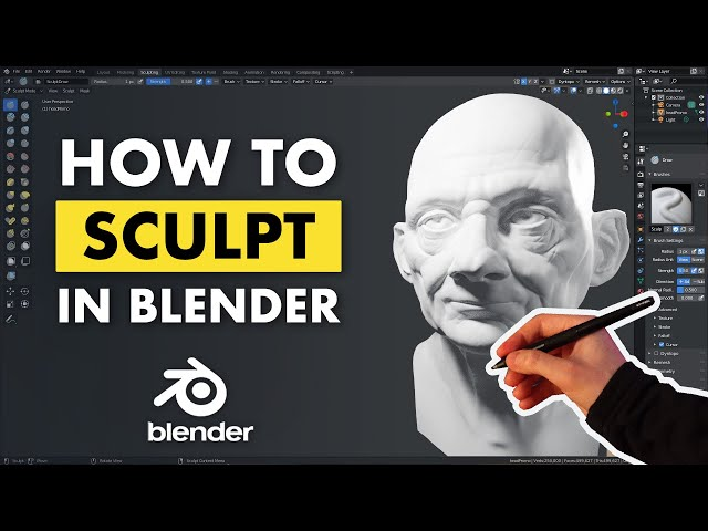 Learn to Sculpt in Blender - Quick Start Guide