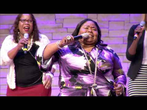 "Kathy Taylor performing at Concord Church in Dallas ""The Blood Medley"""