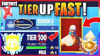 "How To GET FREE TIER 100 ""MAX BATTLE PASS"" IN SEASON 5! - FASTEST WAY To LEVEL / RANK UP In Fortnite"