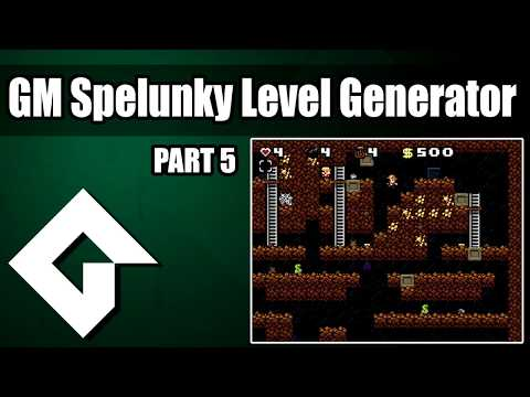 Make A Spelunky Level Generator In Gamemaker Part 5