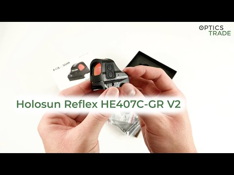 Holosun Reflex HE407C GR V2 Red Dot Sight Review | Optics Trade Reviews