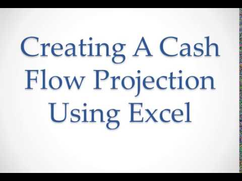 cash flow projection in excel tutorial youtube