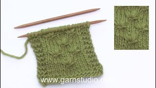 How to knit a knot over 4 stitches