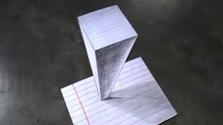 How to Draw a 3D Tower, Pencil Drawing, Art with Swapan