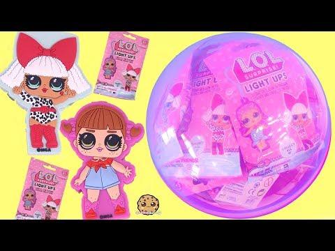 LOL Surprise Light Ups Blind Bag Doll Clips  + Num Noms Lights