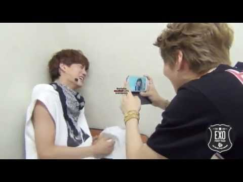 Lay & Kai crying at exo first win - YouTube