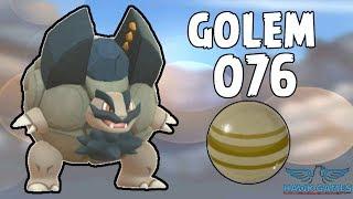 Alolan Golem evolution - Generation 7 Pokedex 076 - Pokemon GO [No Hack]