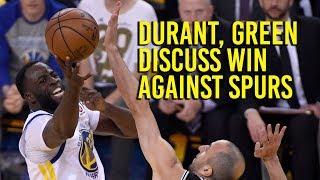 NBA Playoffs: Green, Durant talk about NBA playoff win against Spurs thumbnail