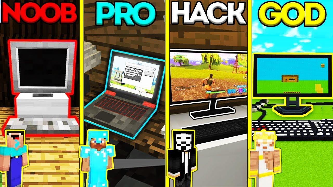 Noob Hacker Pro Roblox Free Robux Hack 2018 March Minecraft Battle Noob Vs Pro Vs Hacker Vs God Personal Computer Challenge Animation