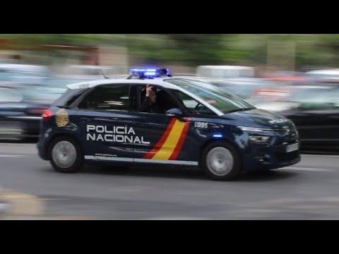 Policia Nacional Valencia a un servicio urgente // Spanish National Police responding
