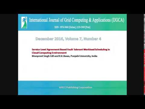 International Journal of Grid Computing & Applications (IJGCA)