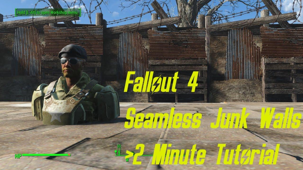 Fallout 4 - Seamless Junk Walls (PC)