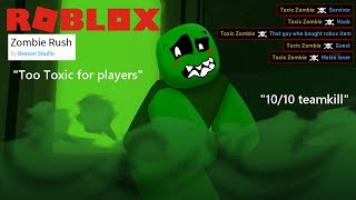 Roblox Zombie rush : Toxic Zombie gas montages